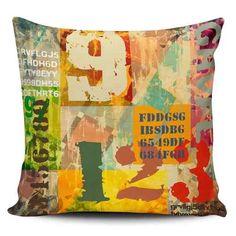 Cojin Decorativo Tayrona Store Abstracto Numeros Vintage - $ 43.900