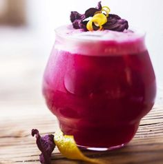 Drinks/Juomat: Red beet sour/Punajuuri sour -cocktail