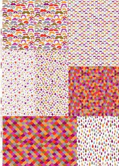 Panneau Méli-Mélo coloris néon infusé ~70x100 cm - Tissus personnalisés/Aime comme Marie - Motif Personnel