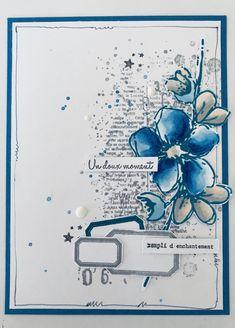 La touche de scrap - scrap et bricole.by christelle Handmade Birthday Cards, Diy Birthday, Card Birthday, Handmade Cards, Mix Media, Mixed Media Cards, Birthday Scrapbook, Message Card, Card Sketches