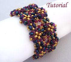 Purple Twins Bracelet  Beading pattern with Twin beads by Ellad2, $6.50