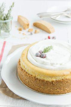 Eggnog Biscotti Cheesecake