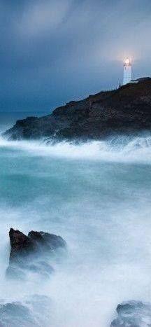 Trevose Head Lighthouse, Cornwall, England.