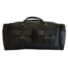 2d756618497c black leather travel bag side view #mensblackleatherbag Hátitáska, Fekete  Bőr, Utazás, Kézitáskák