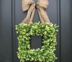 Boxwood spring #wreath