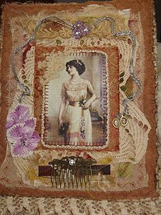 fabric collage - Beauty