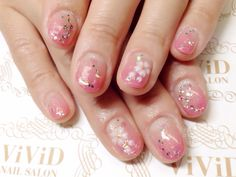 【No.32】best nail art in Spring!!! With the pink gradation it is very feminine nail design♥︎ 桜の3Dアートで春にぴったり‼︎ ピンクと合わせて可愛らしく♥︎ #vividnailsalonsydney#calgel#sydney#nail#nails#nailart#art#nalisalon#gelnail#japanesenailart#ネイル#ネイルアート#ジェルネイル#カルジェル#美甲#指甲