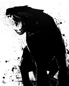 Panther, by SIT . another great ink art? Panther, by SIT . another great ink art? Illustration Art, Illustrations, Desenho Tattoo, Black Panther, Panther Cat, Cat Art, Art Drawings, Art Photography, Street Art