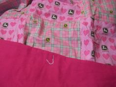 John Deere Baby Crib Quilt perfect for a baby girl