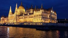 Night view of Budapest Parliament