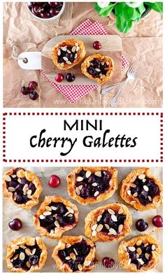 A buttery, flaky crust envelope plump, juicy, sweet cherries in this quick and easy but exceptionally delectable mini cherry galette recipe.