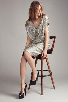 Sequin dress, Louboutin heels