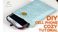 Crafty Gemini | How to Make a Quilted Cell Phone Cozy- Video Tutorial | http://craftygemini.com