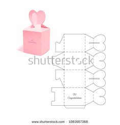 Find Retail Box Diecut Layout stock images in HD and millions of other royalty-free stock photos, illustrations and vectors in the Shutterstock collection. Thousands of new, high-quality pictures added every day. Diy Gift Box, Diy Gifts, Paper Toys, Paper Crafts, Packaging Box, Cardboard Packaging, Origami Box, Retail Box, Box Design