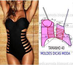 MOLDE TRIQUINI -8 - Moldes Moda por Medida