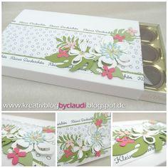 """Diese Toffifee-Schachtel habe ich mit ein paar Reststreifen des SAB-Designerpapiers """"Wildblumenwiese"""" und den Botanical Blooms aufgehübscht..."""