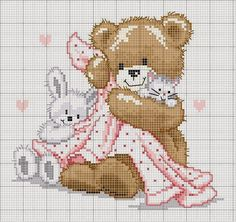 Schemi punto croce Orsetti | Hobby lavori femminili - ricamo - uncinetto - maglia