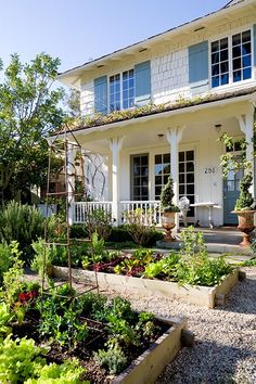 raised beds - a great idea - convert your front yard into a garden.