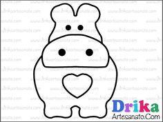 Patchwork moldes hipopótamo em patch aplique • Drika Artesanato - O seu Blog de Artesanato!
