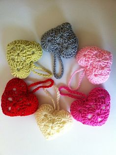 Valentines Day Gift, Love Hearts, Crochet Heart Decor