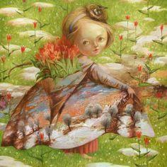 Postcard The Spring by Nataliya Derevyanko