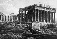 Athens, Parthenon. Daguerreotype of 1839
