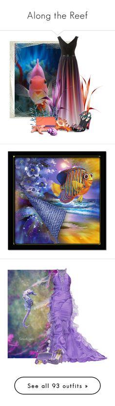 """Along the Reef"" by tara-omar ❤ liked on Polyvore featuring Fendi, art, Badgley Mischka, Julia Cocco', Fabulicious, Bling Jewelry, John Lewis, Lipsy, Mixit and Oscar de la Renta"