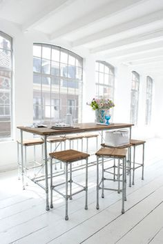 Recycled teak wood furniture, Singapore contemporary dining tables