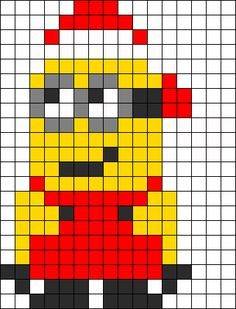 Santa Minion bead pattern