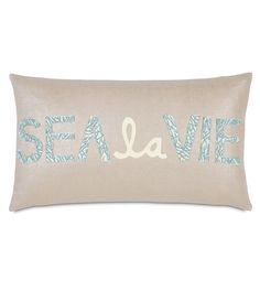 Eastern Accents Coastal Tidings Sea La Vie Decorative Pillow, $80