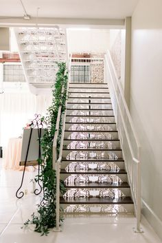 Another shot of our iron lace staircase, but who's counting? | Photo: Taylor Dane Photography | Florals: Forever Wild Floral Co | BridgeStreet Gallery & Loft | Birmingham Wedding Venue