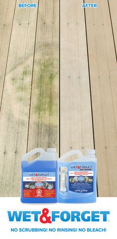 Green and black stains on your deck patio brick roof or siding? Spray Wet & Forget and let the wind and the rain do the rinsing and scrubbing for you. Save Now at Kent & Canadian Tire. Diy Home Cleaning, Household Cleaning Tips, House Cleaning Tips, Diy Cleaning Products, Cleaning Solutions, Spring Cleaning, Cleaning Hacks, Deck Cleaner, Relax