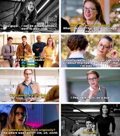 Kara Danvers being sneaky Supergirl Comic, Supergirl And Flash, Superhero Tv Shows, Superhero Memes, Dc Comics, Mellisa Benoist, Flash Funny, Dc Tv Shows, Lena Luthor
