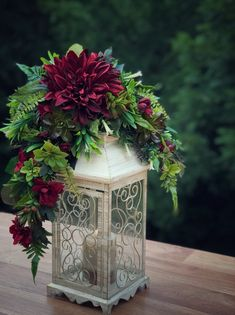 Lantern Centerpiece Centerpieces for Wedding Lantern Wedding Decor for Table Centerpieces Flowers Fake Flowers Floral Arrangements Latern Centerpieces, Floral Centerpieces, Floral Arrangements, Rustic Lanterns, Wedding Lanterns, Wedding Decor, Wedding Venues, Rose Tattoo Traditional, Stairway Decorating