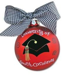 Happy Graduation Anniversary to me!    http://www.stores.misscocky.com/gifts/hand-painted-university-of-south-carolina-graduation-ornament
