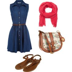 polyvore outfits | fashion look from June 2012 featuring FOSSIL shoulder bags, Mango ...