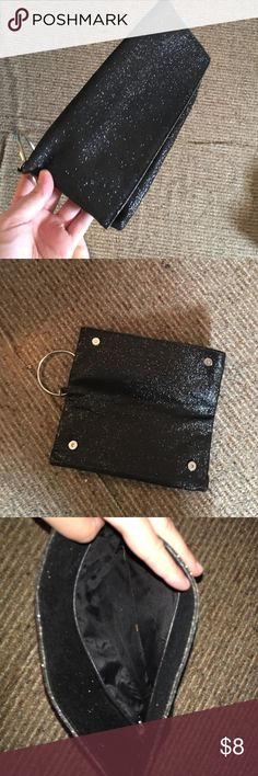 Sparkle black clutch Sparkle black clutch with magnetic closure. Bags Clutches & Wristlets