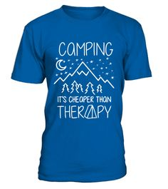# Funny Camping T Shirt Nature Gifts Fo .  Funny Camping T Shirt Nature Gifts For Campers Shirt Camping Clothing Outdoor Shirt Camping Is Cheaper Than Therapy
