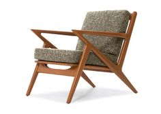 The Kennedy Chair - Mid-Century Modern Furniture, Z Style Wood Chairs. The Danish Z chair is designed in the spirit of Selig - Poul Jensen. Quality Mid Century Modern Furniture.