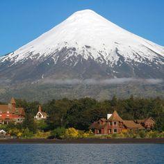 Petrohue, Patagonia Chile. Todos los Santos lake. Lake crossing trip Chile-Argentina
