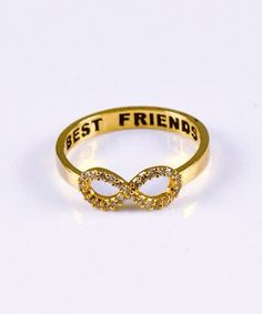 Best Friends Infinity Ring. I need these for my girls! Nikki, Jamie, Sarah, Perks, and Keea