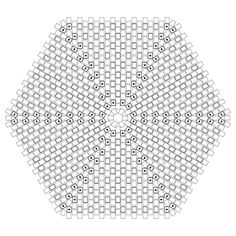 Hexagonal Flat Peyote Worked In Rounds - Graph paper for your own designs.  #Seed #Bead #Tutorials