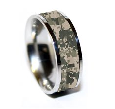 army Tungsten ring  | Army Camo Ring - Military Camo Wedding Band - Camouflage Marpat Ring ...