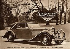 Vintage Drawing -  1940s Uk Bentley Sports Cars by The Advertising Archives