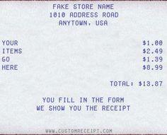 Free Online Receipt Maker - Fake Receipt - Custom Receipt - Sales ...