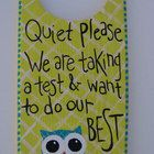 This wood door hanger is hand painted with an adorable owl for your classroom. It measures approx. 9-1/2