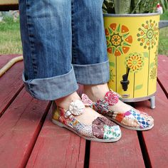 Fabric Scrap Shoes tutorial