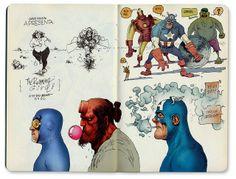 Sketches of Marcelo Braga