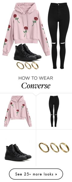 """Untitled #1119"" by noellescholte on Polyvore featuring Topshop, Converse and Made"
