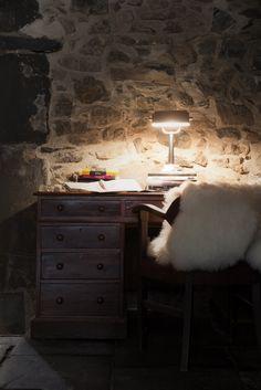 Desk corner at La Ferme de Margot in Morzine